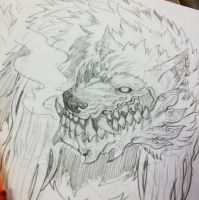 fenrir wolf form by TheWolfMaria