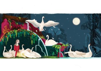 The wild swans by poohdit