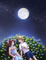 Little kids: Cloud and Aerith! So Cuuute! by Snowflower--Chan00