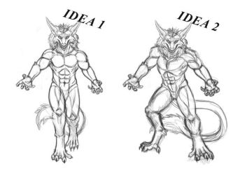 Sergal Fury Pose Sketches by sannamy