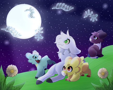 Moonweed watching (collab) by 3litt0