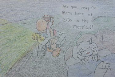 Late Night Mario Kart Wii by ImaginDevan