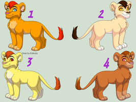 Male Cubs Adoptables 4 - CLOSED - by Soufroma