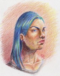 Demian -Colored pencils by ZymploxX
