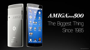 Custom Commodore Amiga smartphone concept by zgodzinski