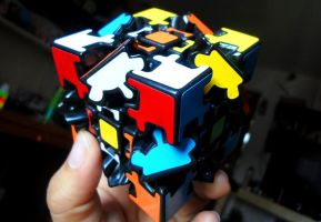 Rubik's Cube Gear V1 Full Stickers by LESHUU