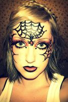 Spiderweb facepaint by TayTay17