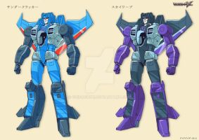TF Victory Thundercracker + Skywarp by GuidoGuidi