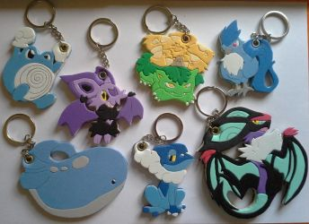 Many Pocket Monsters keychains! by SoftMonKeychains