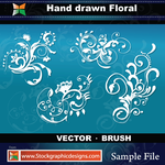 Hand Drawn Floral-Brush by Stockgraphicdesigns