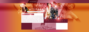 Katy Perry PSD Header by BrielleFantasy