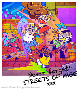 Gamers, never forget! #6: Streets of Rage by vincentbatignole
