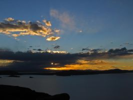 Sky over Lake Titikaka by DrHamster