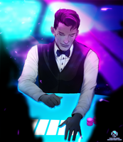 [c] Card Dealing At The Club Commission by Noctalosis