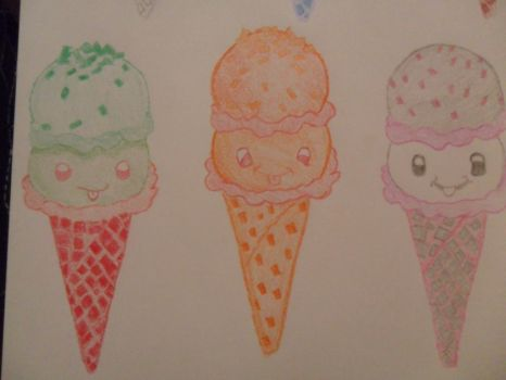 Crazy for Ice-Cream - Close up of Bottom 3 by I230