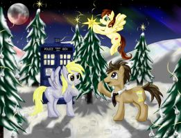 The Doctor, the Ponies, and the Tardis by StarletNightwind