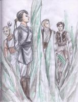 KotOR2-Female Exile and Dudes by PayRoo
