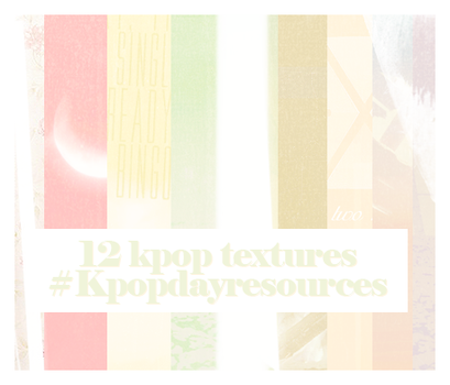 12 kpop textures by Invasionomercy