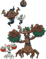 708 and 709 - Phantump Evolutionary Family