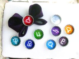 Sailor Moon bottlecaps by Warlord-of-Noodles