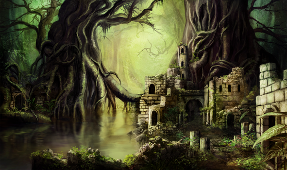 Jungle Ruins by Jay-R-Took
