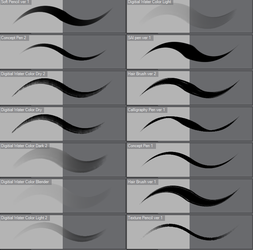 Various Brushes CLIP STUDIO PAINT EX by Ashentar