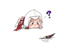 Ezio - He's Distracted By A Feather by SilverSoulArtist