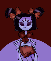 SIT YOUR LITTLE MISS MUFFET BACK ON THE TUFFET by Vamp-y