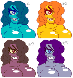 Slime Girl Colors - August 2018 by VioletVixenPro
