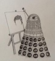 Create, Don't EXTERMINATE! (pencil) by neeltjelena