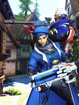 Ana x Soldier 76 2.0 - Overwatch by Shylock7