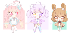 [CLOSED] Kemonomini Adopt Batch by pueru--adopts