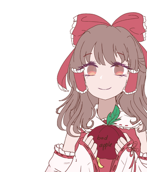 Reimu / color / by WindyMils