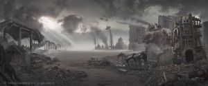 Seattle Post Apocalypse: Matte Painting Art by ZOOLAX