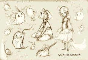 Choubou Sketches by RedBeanViolin