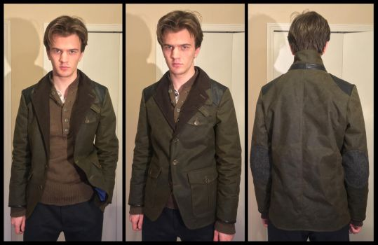 Barbour-style waxed jacket (more views) by TimeyWimey-007