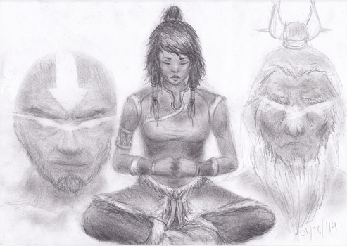 The Legend of Korra - Meditating by slagjoeyoco