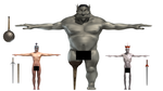 Orrin, Gormley, and Ommadon WIPs by paulrich