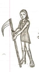 Girl with Scythe by Dragonlet