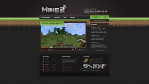 Webdesign MineZ.cz - Minecraft by Ingnition