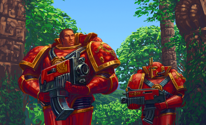 Thousand Sons space marines by LynxC