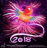 Daily Paint 1867# Polly want a Firecracker by Cryptid-Creations