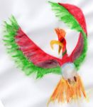 Abstract Legendary Ho-Oh by UneQuintessence