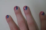 4th of July Nail Design (closer) by Winged-blackshell
