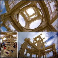 Inside the Temple, Burning Man (2007) by hoshq
