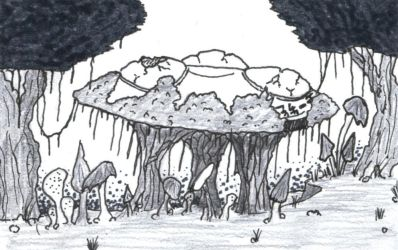 Ancient Ruins in the Funghi Forest by LoganGaiaRPG