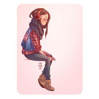 headphone girl by Iraville
