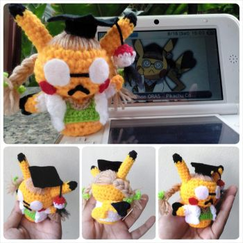 Amigurumi - Pikachu, Ph. D (Pokemon) by TeaTlme