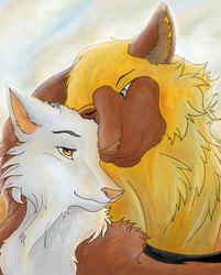 Hek and Pim -Commission- by Hortensie-Stone