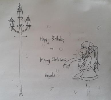 Happy Birthday and Merry Christmas, Angela! by Great-Seraphim-Angel